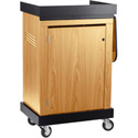Oklahoma Sound Smart Cart Lectern SCL The Multi-Presentation Stand - Light Oak