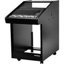 OmniRax CW30-B Black Melamine Rolling Console 30 Rack Space