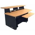 OmniRax Presto4 AV Desk - Mahogany