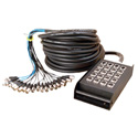 On Stage Stands SNK164100 16x4 Fan-Box Snake Cable With XLR Conns and Carry Bag