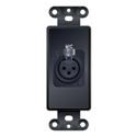 Liberty PCD-5750-S-B Decor-Style Insert 3-Pin XLR Female