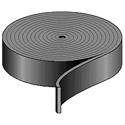 Penn-Elcom 2119 1 Inch Wide Black Nylon Strapping - 300 Foot Roll
