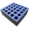 Penn-Elcom M6001 Foam Mic Insert for Up to 25 Microphones 15x15x6