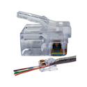 Platinum Tools 100026LTB EZ-RJ12/11 Long Tab Connector - 100 Pack