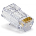 Platinum Tools 105004 EZ-RJ45 CAT6 Connectors for Solid or Stranded Conductors - 500 Pack