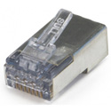 Platinum Tools 105027 ezEX44 10G RJ45 Shielded Connector w/ Int. Ground for Conductor OD Range .039in - .044in - 100pk