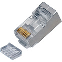 Platinum Tools 106206J RJ45 (8P8C) Shielded Cat6 2 Piece Connector with Liner Round Solid 3-Prong - 100/Jar