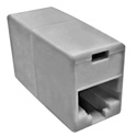 Platinum Tools 106211C In-Line Coupler RJ45 Cate 5e - Light Almond - 2 Per Pack