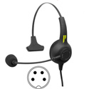 Pliant Technologies PHS-SB11L-4F SmartBoom® LITE Single Ear Pliant® Headset with 4-Pin XLR Female Connector
