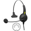 Pliant Technologies PHS-SB11L-5M SmartBoom® LITE Single Ear Pliant® Headset with 5-Pin XLR Male Connector