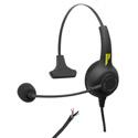 Pliant Technologies PHS-SB11L-U SmartBoom® LITE Single Ear Pliant® Headset with Unterminated Cable