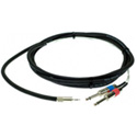Pro Co IPMB2Q-5 Mini Bal to 2Q Sound Card Cable 5 Ft.