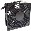 Quest F04-1080 4 Inch Square Fan - 80 CFM - Black