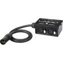 Laird RD1-BX5 24-Volt Twin Output 3-Pin XLR Power Splitter Box