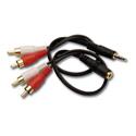 RDL AV-AC2 Cable Kit for AV-HK1 - Dual RCA to mini-plug; Dual RCA to mini-jack