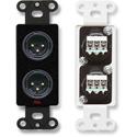 RDL DB-XLR2M Dual XLR 3-pin Male Jacks on Decora Wall Plate - Solder type