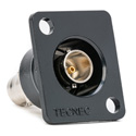 TecNec Recessed Panel Mount BNC Barrel 75Ohm Black