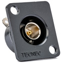 TecNec Recessed Panel Mount BNC Female to Solder Point 75Ohm Black