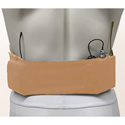 Remote Audio URS LRGSPBE Large Waist Wireless Transmitter Strap with Small Pouch - Beige