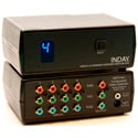 4x1 HDTV Component Video Switcher with IR Remote and RS232 Option