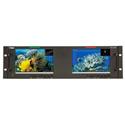 Wohler RM-3270WS-3G2 Dual 7.0 Inch Widescreen LCD Video Monitor - 3G/HD/SD-SDI/Composite - Dual Inputs - 3RU