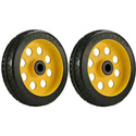RocknRoller RWHLO8X2 8 Inch x 2 Inch R-Trac Rear Wheel for R6/R8/R14 - 2 Pack - Yellow Hub