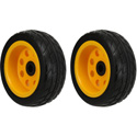 RocknRoller RWHLO8X3 8 Inch x 3 Inch Ground Glider Wheel with Offset Hub - Rear Wheel Upgrade for R6/R8/R14/R16 - 2 Pack