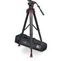Sachtler System Video 18 Fluid Head (1811) + Tripod Flowtech 100 MS with Mid-Level Spreader and Rubber Feet