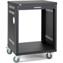 Samson SRK12 12-Space 18-Inch Deep Universal Equipment Rack with Casters - Bstock (Open Box/Used)