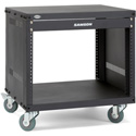 Samson SRK8 8-Space 18-Inch Deep Universal Equipment Rack with Casters