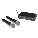 Samson SWC288HQ6-H Concert 288 Dual Channel Wireless Handheld System w/2 Q6 Handheld Microphones - H Band 470-518 MHz