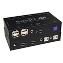 Smart AVI HKM-02S 2-Port HDMI with Stereo Audio USB 2.0/1.1 Switch