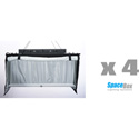 SpaceBox SBLED-STKT4-120-B LED Studio Four Kit - Bi-Color - 120V