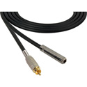 Canare Star-Quad Audio Cable 1/4-Inch TS Female to RCA Male 50 Foot - Black