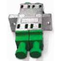 Senko 988M-3S21-N LC Metal Adapter Duplex green cap with flange no shutter