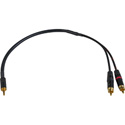 Sescom SES-43DB-MZ2P 3.5mm TRS to RCA with 43dB Pad DSLR Attenuating Line to Mic Level Cable - 18 Inch