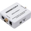 Sescom SES-ADDA1 Audio Converter - Bidirectional Coax/TOSLINK with Selectable Input