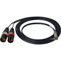 SESCOM SES-DSLR-ST-MIC XLR Stereo Mic to DSLR Audio Input Adapter Cable - 10 Ft