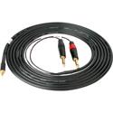 Sescom SES-IPOD-QTRM15 3.5mm Stereo Plug to Dual 1/4 Inch Phone Plugs 15 Feet