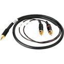 Sescom SES-IPOD-RCA03 3.5mm Mini Stereo Plug to Dual RCA Male Plugs 3 Feet