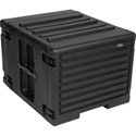 SKB 1SKB-R8UW 8U Space Rack stacks with Roto Racks Wheels and Handle