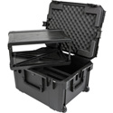SKB 3i-2217M124U iSeries Case with Removeable 4U Injection Molded Rack Cage - TSA Latches/Wheels