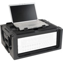 SKB 1SKB19-RSF4U Studio Flyer 4RU Rack & Laptop Combo Rackmount Case - Black