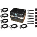 Shure SM57-SM58 Mic Pro Pkg with SKB Case and Premium Audio Cables