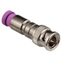 Thomas & Betts SNS1P6QSBNC Snap-N-Seal BNC Quad Shield Connector-Violet Sleeve