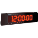 Radio Systems CT-2002 Large 2 Inch LED Studio Clock with I/R Remote