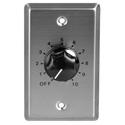 Speco WAT10 10W 70/25 Volt Wall Plate Volume Control - Silver & Black