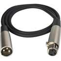 SuperSaver Series XLR Male to XLR Female Cable 3 Foot