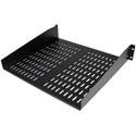 Startech CABSHELFV 2U 16in Universal Vented Rack Mount Cantilever Shelf - Fixed Server Rack Cabinet Shelf