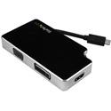 Startech CDPVGDVHDB Travel A/V Adapter: 3-in-1 USB-C to VGA DVI or HDMI - 4K